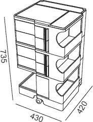 Dimensions Boby B34 B-line