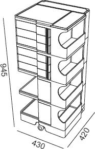 Dimensions Boby B46 B-line