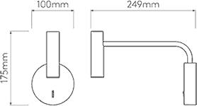 Dimensions Enna Wall Astro