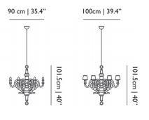 dimensions moooi chandelier L