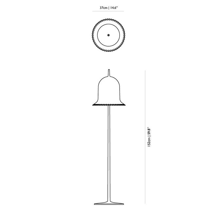 dimensions lampe lolita floor moooi