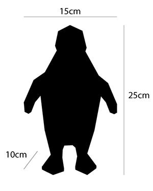 dimensions mini-pingouin