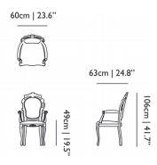 dimensions armchair moooi smoke