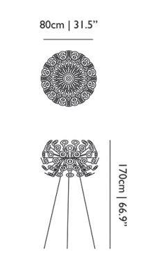 Dimensions dandelion moooi lampe