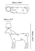 dimensions lampe horse moooi