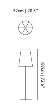 dimensions lampadaire shade moooi