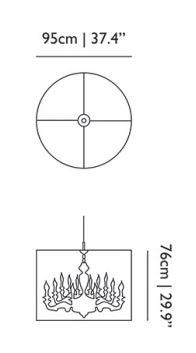 dimensions suspension shade 95 moooi