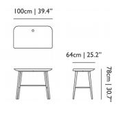 dimensions table woood moooi