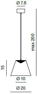 Dimensions suspension Dina de Rotaliana