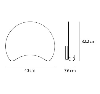 Dimensions Dinarco Artemide