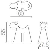 Dimensions tabouret Doggy de Serralunga
