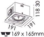 Dimensions spot encastré Altalum