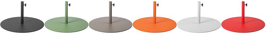 Coloris des bases pour parasols Fatboy