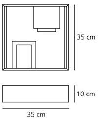 Dimensions de la lampe Fato de Artemide