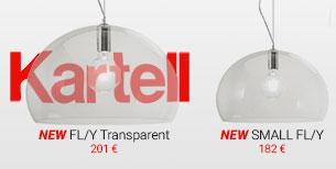 Suspensions FL/Y total transparent et Small FL/Y de Kartell