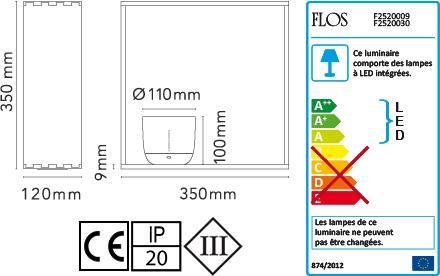Dimensions Gaku Wireless Flos