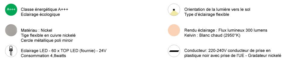 dimensions giulietta lampe