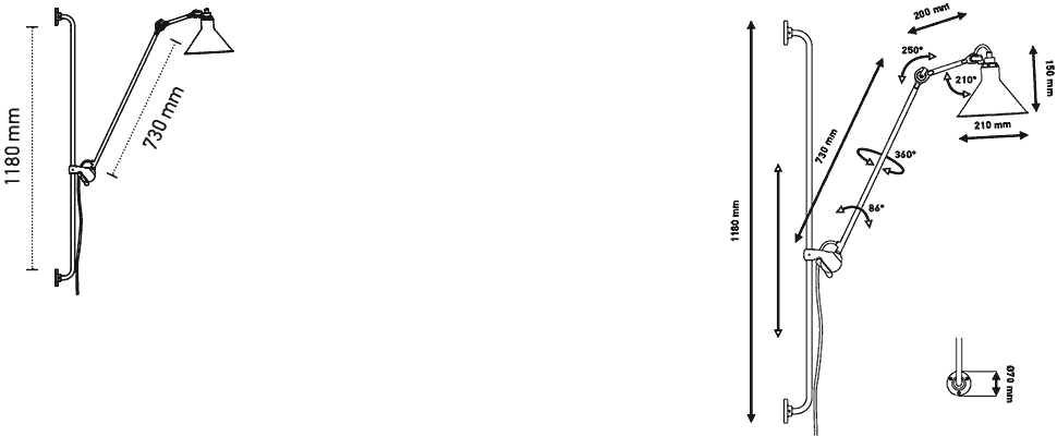 Dimensions Applique Gras n°214 DCW Editions