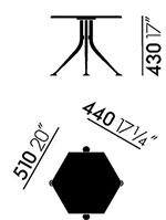Dimensions Hexagonal Table de Vitra