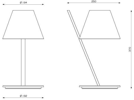 Dimensions lampe de table La Petite de Artemide