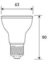 Dimensions ampoule LED PAR20 de GE Lighting