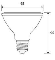 Dimensions ampoule LED PAR30 de GE Lighting