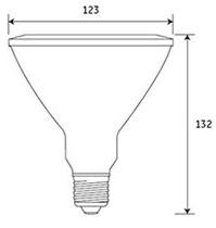 Dimensions ampoule LED PAR38 de GE Lighting