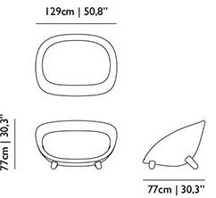 Dimensions canapé Love Sofa de Moooi