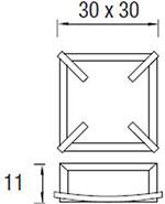 Dimensions plafonnier Mark de Leds-C4