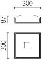 Dimensions plafonnier Mashiko 300 de Astro