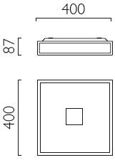 Dimensions plafonnier Mashiko 400 de Astro