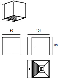 Dimensions applique MLN DAU-LED de Milan Iluminacion