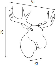 Dimensions applique Moo de Northern Lighting