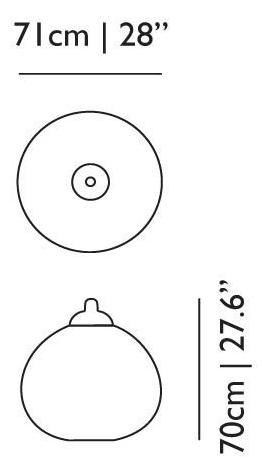 dimensions suspension non ramdom moooi