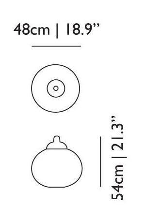 dimensions suspension random petite moooi