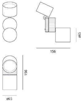 Dimensions de l'applique Objective de Artemide