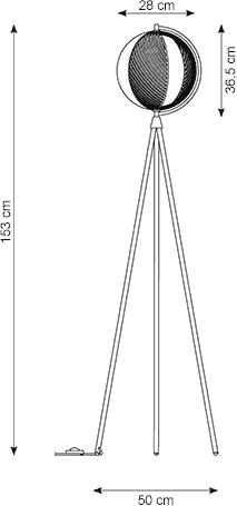 Dimensions lampadaire Mondo Oblure