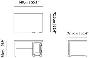 Dimensions Bureau Paper Desk de Moooi