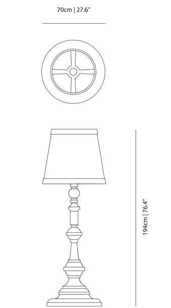 dimensions lampadaire paper moooi