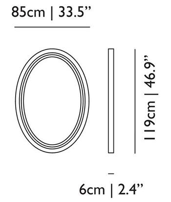 dimensions paper miroir moooi