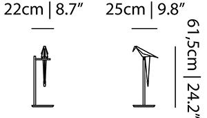 dimensions lampadaire perch