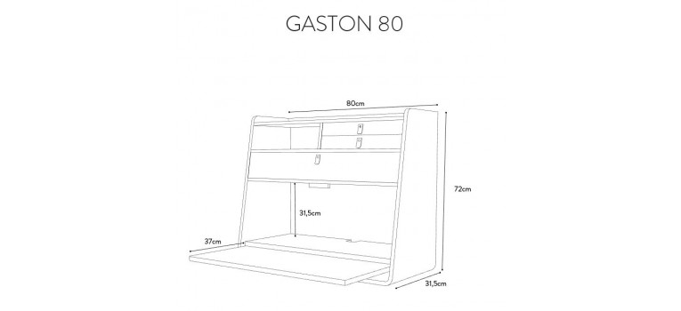 Dimensions Gabin Harto 80cm