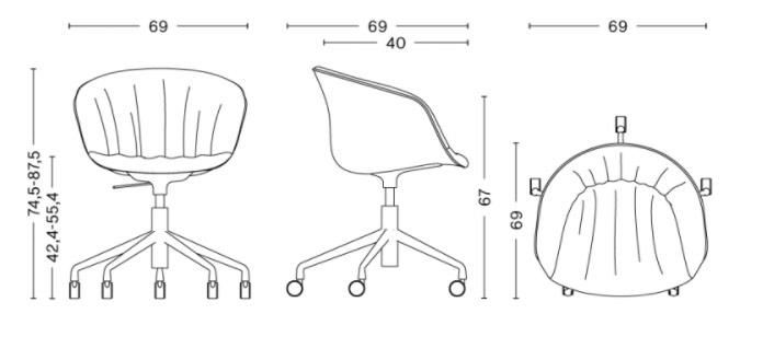schema chaise de bureau AAC 53 Soft