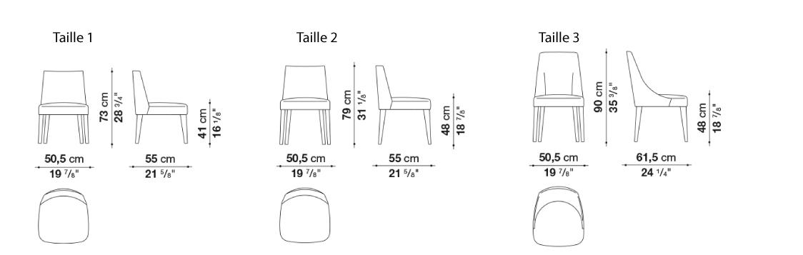 schema chaise febo sans accoudoir