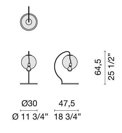 schema meltdown table lamp