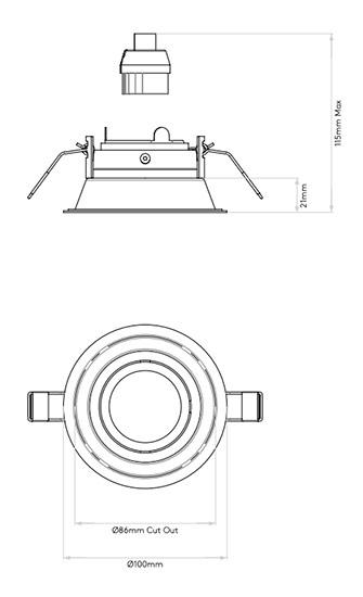 Schema minima slimline round ajustable