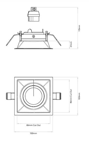 schema minima slimline square ajustable