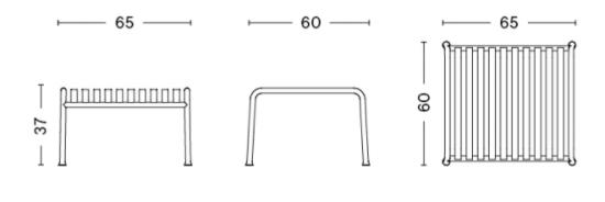 schema palissade table basse