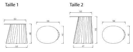 schema table d'appoint pli