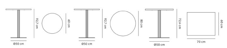 schema harbour table de comptoir
